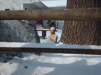 snowybuddhathrough-fence.jpg
