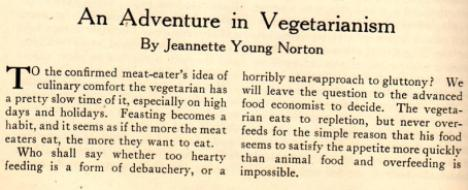 An Adventure in Vegetarianism 001